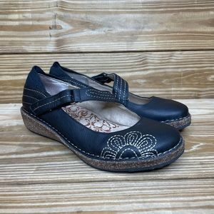 Aetrex Mary Jane Leather Clogs